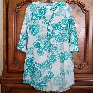 Soft Surroundings Cotton Silk Tunic Petite Small
